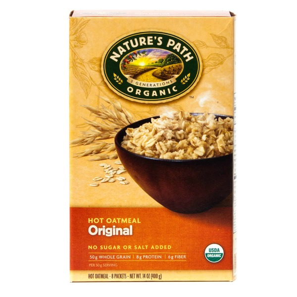Nature's Path Organic Hot Oatmeal Original - 8 CT