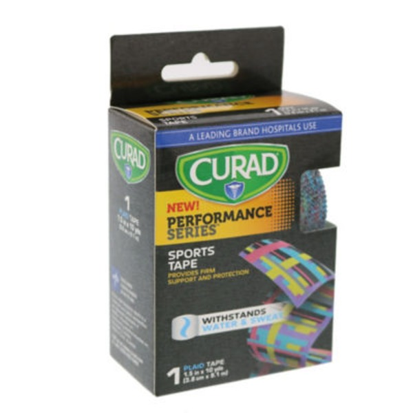 Curad Performance Series Plaid Athletic Tape
