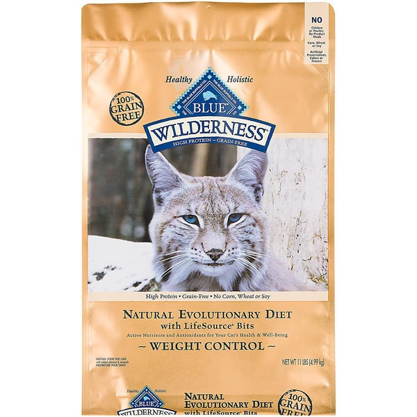 Blue Buffalo Wilderness Natural Evolutionary Diet Weight Control Natural Food for Cats
