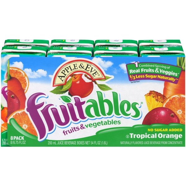 Apple & Eve Fruits & Vegetables Tropical Orange Juice Beverage Fruitables