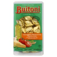 Buitoni Freshly Made. Filled with tender chicken, prosciutto and Parmesan cheese Chicken and Prosciutto Tortelloni
