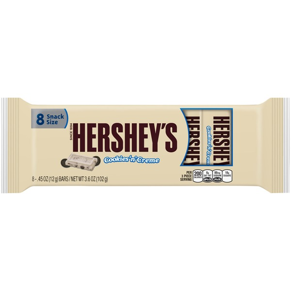 Hershey Snack Size Cookies 'n' Cream Candy Bars