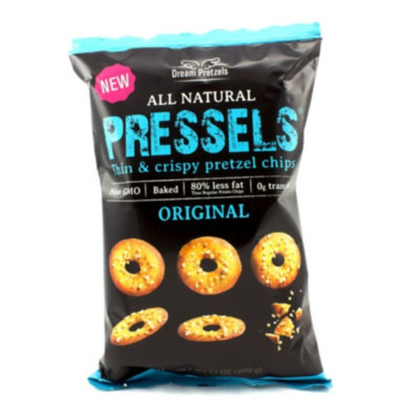 Dream Pretzels All Natural Pressels Thin & Crispy Pretzel Chips Original Flavor