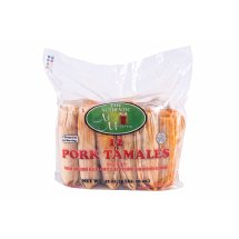 Authentic New Mexican Pork Tamales With Red Chile & Wrapped In Hoja, 12ct