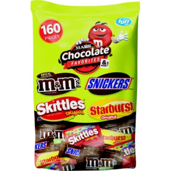 Mars Mars Chocolate Favorites Variety Pack - 160 CT