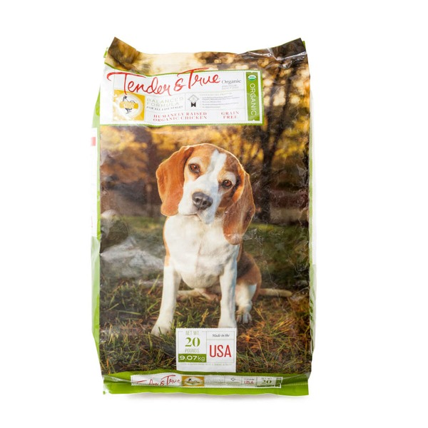 Tender And True Pet Food Organic Dry Dog Food Chicken And Liver