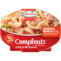 HORMEL COMPLEATS Chicken & Noodles 7.5 oz. Sleeve