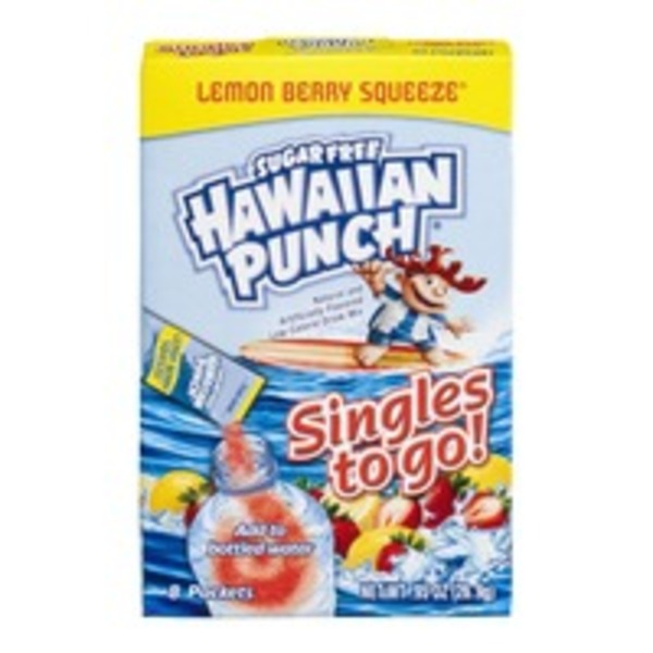 Hawaiian Punch Singles To Go Sugar Free Lemon Berry Squeeze - 8 CT