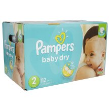Pampers Baby Dry Diapers, Size 2, 112 Diapers