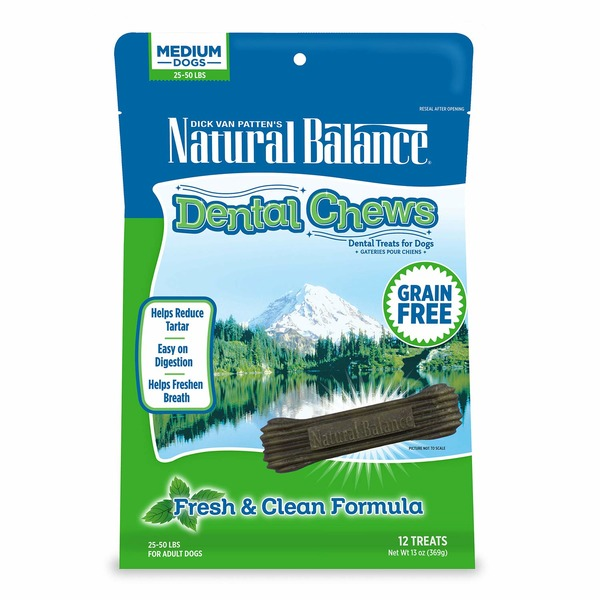 Natural Balance Fresh & Clean Dog Dental Chews Form Medium Dogs