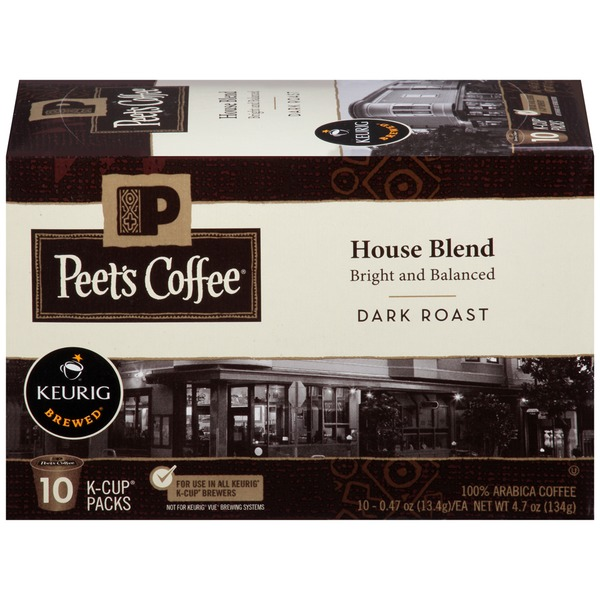Peet's Coffee & Tea House Blend Dark Roast, K-Cups