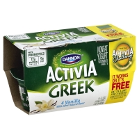 Dannon Activia Greek Yogurt Vanilla Nonfat - 4