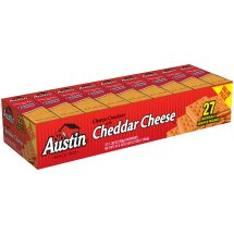 Austin Cheese Crackers with Cheddar Cheese, 1.38 oz, 27 count