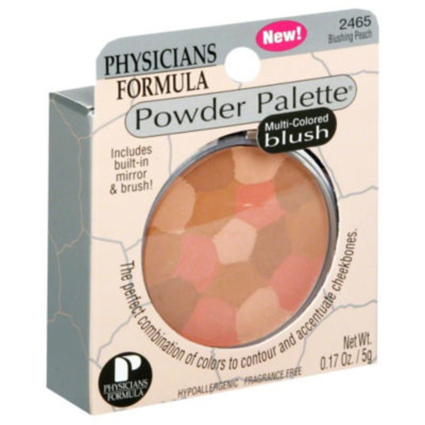 Powder Palette® 2465 Blushing Peach Multi-Colored--2465C Blush Peche Multicolore Blush--Fard a Joues