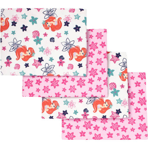 Disney Ariel Sea Treasures Flannel Receiving Blankets