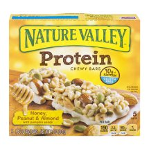 Nature Valley™ Protein Chewy Honey Peanut Almond 5 ct 7.1 oz Box, 1.42 OZ