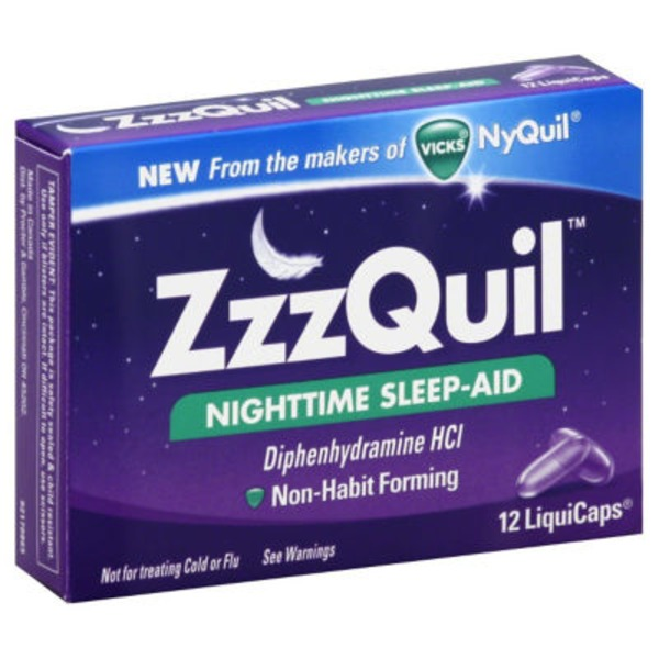 Zzzquil Nighttime Sleep Aid LiquiCaps 12 ct (Pack of 12) Misc Personal Health Care