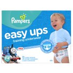 Pampers Easy Ups Boys Training Pants, Size 3T-4T, 72 Pants