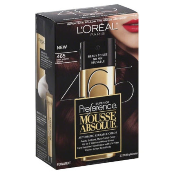 Superior Preference Mousse Absolue Dark Auburn Brown 465 Hair Color
