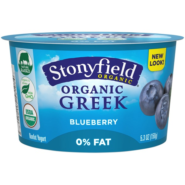 Stonyfield Organic Organic Blueberry Nonfat Greek Yogurt