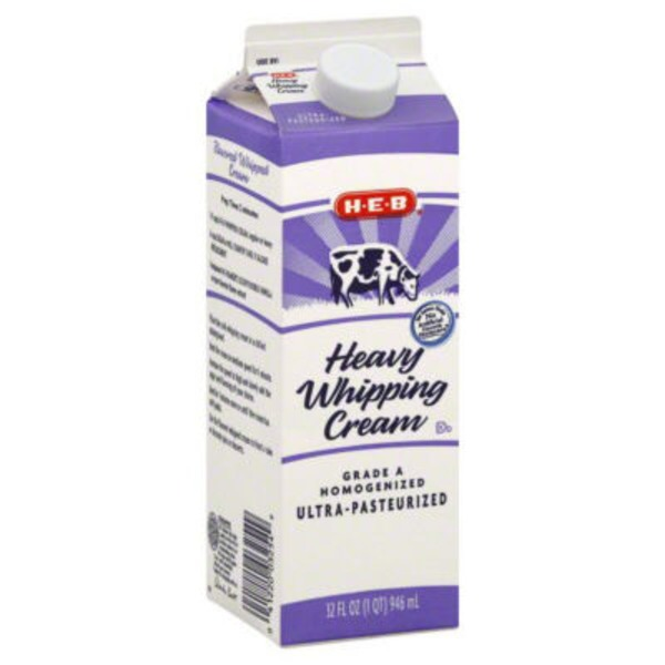 H-E-B Grade A Homogenized Heavy Whipping Cream