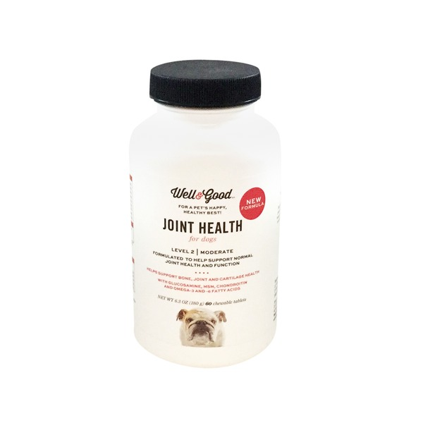 Well & Good Level 2 Moderate Joint Health For Dogs Chewable Tablets