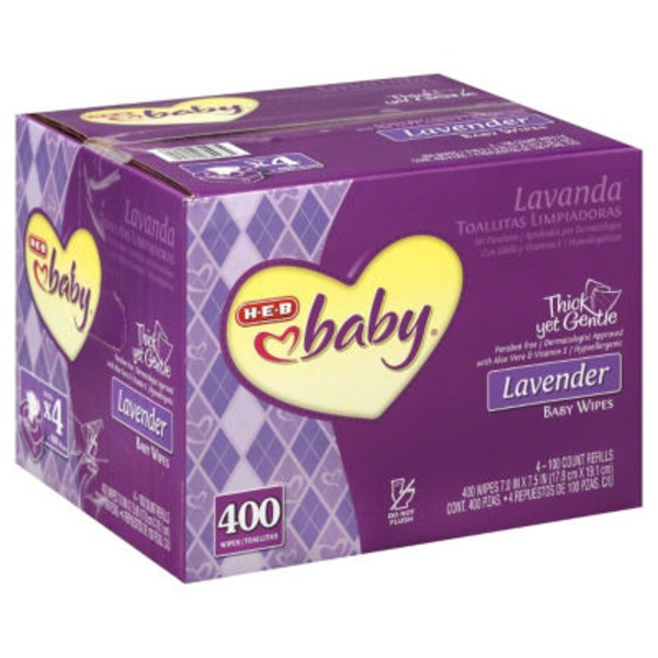 H-E-B Lavender Baby Wipes