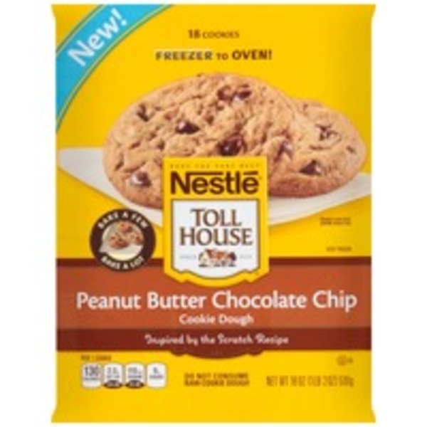 Toll House Peanut Butter Chocolate Chip Frozen Cookie Dough