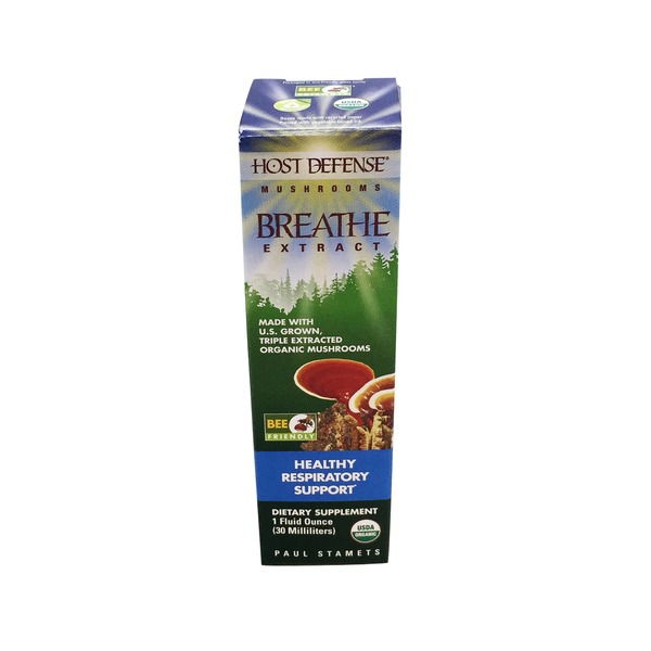 Host Defense Organic Breathe Extract for Healthy Respiratory Support