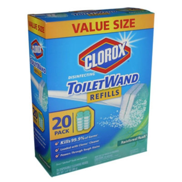 Clorox Toilet Wand Rainforest Rush Refill