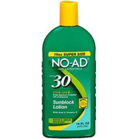 No-Ad Broad Spectrum SPF 30 Sunscreen Lotion