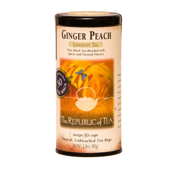 The Republic of Tea Ginger Peach Longevity Tea