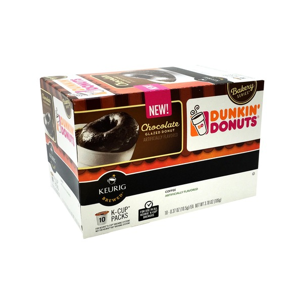 Dunkin' Donuts Coffee, Chocolate Glazed Donut, K-Cup Packs