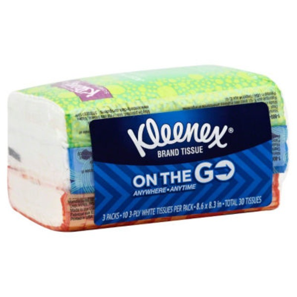 Kleenex On The Go 3 Pack Facial Tissue