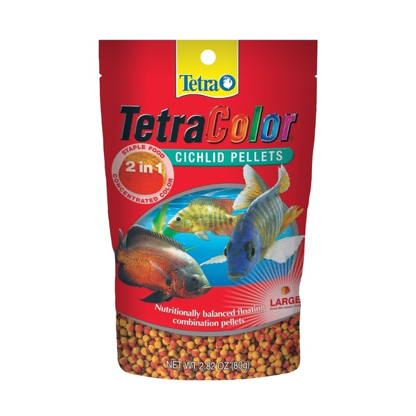 Tetra Color Cichlid Food Pellets Large