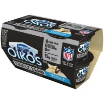 Oikos Triple Zero Vanilla Greek Nonfat Yogurt, 5.3 oz