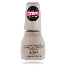 SinfulColors SinfulShine Step 1 Color Nail Color, Prosecco, 0.5 fl oz