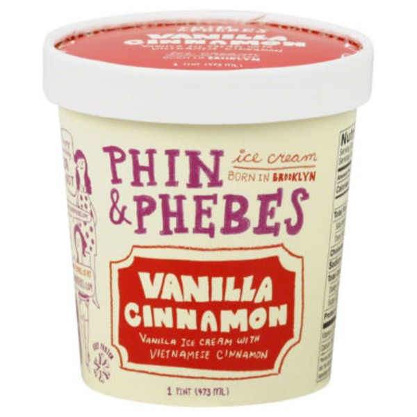 Phin & Phebes Ice Cream, Vanilla Cinnamon, Tub