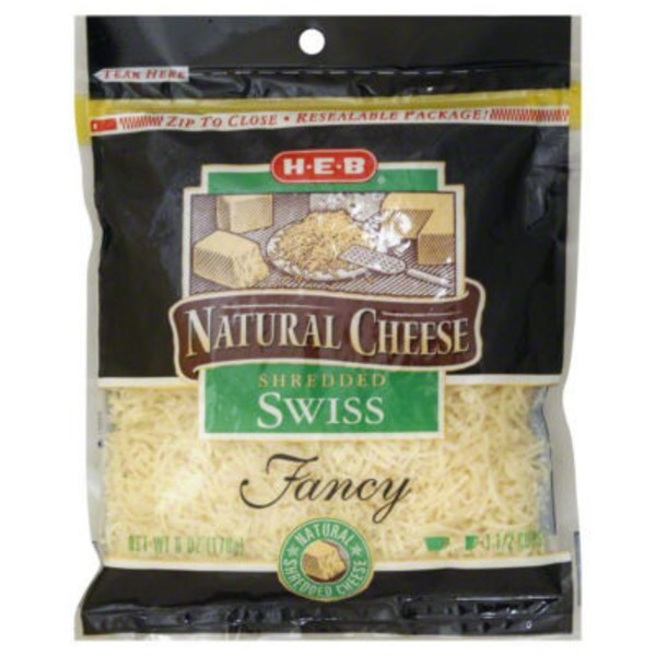 H-E-B Natural Cheese Shredded Swiss