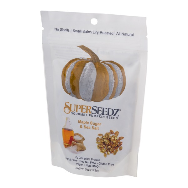 SuperSeedz Gourmet Pumpkin Seeds Maple Sugar & Sea Salt