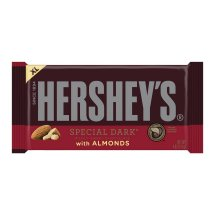 HERSHEY'S Extra Large SPECIAL DARK Mildly Sweet Chocolate with Almonds Bar, 4 oz