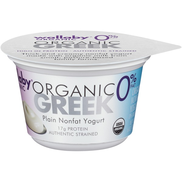 Wallaby Organic Greek Nonfat Plain Yogurt