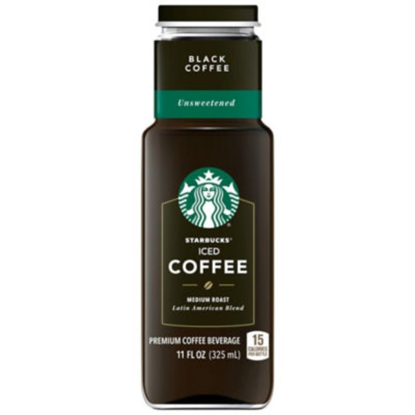 Starbucks Unsweetened Black Medium Roast Iced Coffee