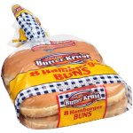 Butter Krust Hamburger Buns, 20 oz