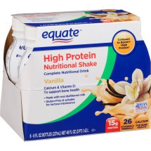 Equate vanilla high protein nutritional shakes, 8 Oz, 6 ct