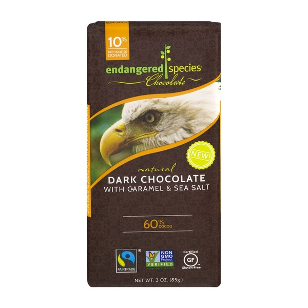 Endangered Species Chocolate Bar Natural Dark Chocolate With Caramel & Sea Salt