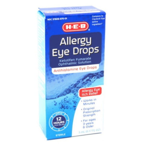 H-E-B Allergy Antihistamine Eye Drops