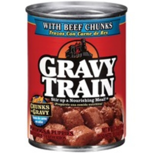 Gravy Train Chunks in Gravy with Beef Chunks Wet Dog Food