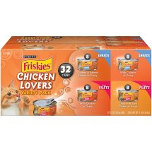 Purina Friskies Chicken Lovers Shreds & Filets Adult Wet Cat Food Variety Pack - (32) 5.5 oz. Cans