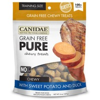Canidae Training Size Grain Free Pure Chewy Treats With Sweet Potato and Duck for Dogs